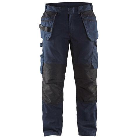 Pantalon service stretch avec poches flottantes - 8699 Marine foncé/Noir - Blaklader