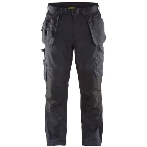 Pantalon service stretch avec poches flottantes - 9998 Noir/Gris Foncé - Blaklader