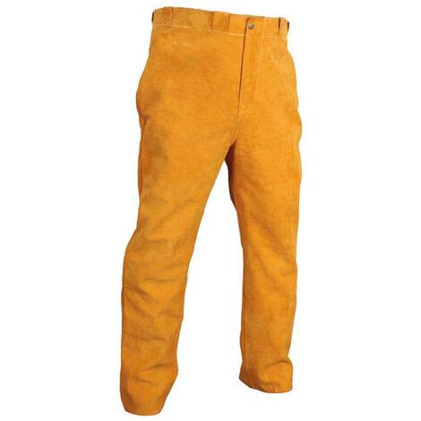 Pantalon soudeur gold cuir croute de bovin fil kevlar taillel 17548-l