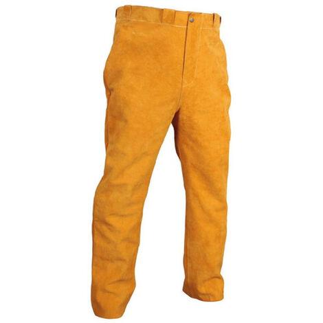 Pantalon soudeur gold cuir croute de bovin fil kevlar taillexxl 17548-xxl