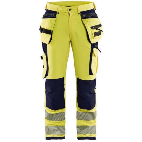 Pantalon stretch 4D Haute-visibilité - 3389 Jaune fluo/Marine - Blaklader
