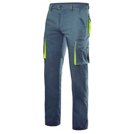 Pantalón stretch bicolor multibolsillos Serie 103008S