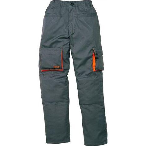 Pantalon Tergal Multibolsillos M2Pan - Delta Plus - Gris / Naranja - T42-44
