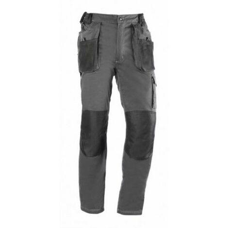 Pantalon Trabajo L 68% Algodon 30% Poliester Gris/Negro 171