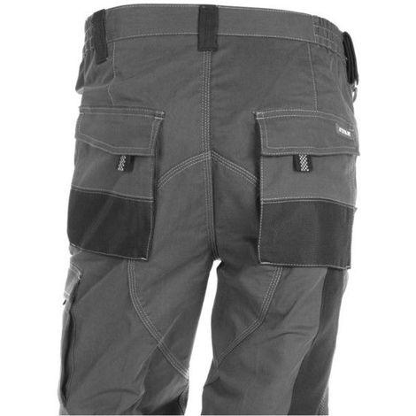 Pantalon Trabajo M 68% Alg 30% Poli Gr/neg 171 Multibolsillo