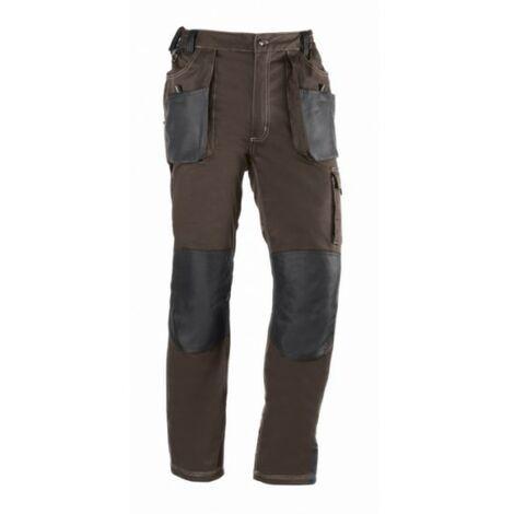 Pantalon Trabajo M 68% Algodon 30% Poliester Marron/Negro 191