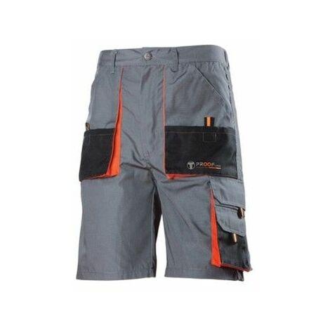 Pantalon Trabajo M Corto Algodon Gris Diamond225 3L