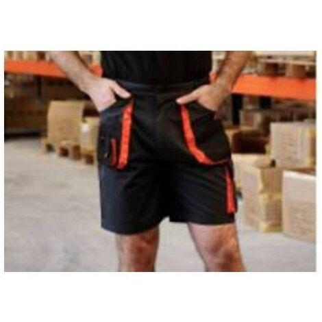Pantalon Trabajo M Corto Tergal Negro/Naranja Toprange Juba