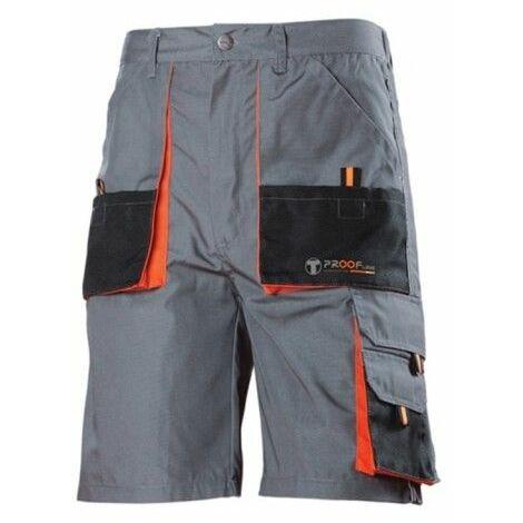Pantalon Trabajo S Corto Algodon Gris Diamond225 3L