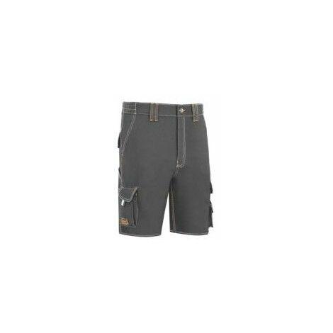 Pantalon Trabajo T40 Corto Algodon/Elas Gris L9000 Vesin