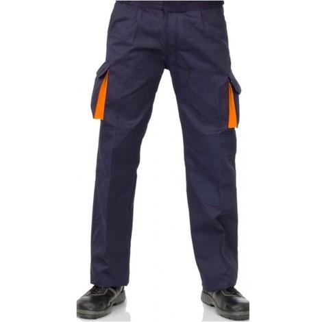 Pantalon Trabajo T42 Alg Az/na Cargo Mltibol Vesin