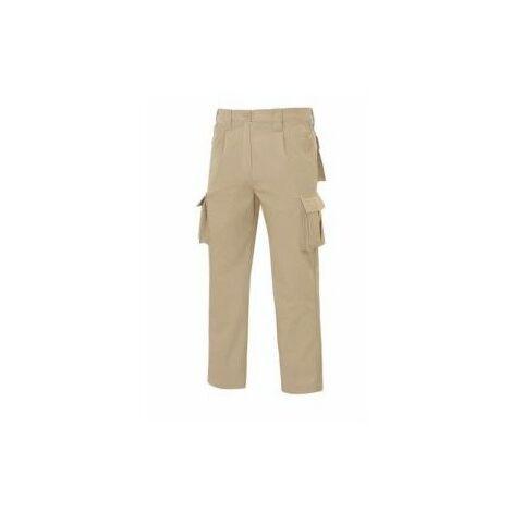 Pantalon Trabajo T42 Elastico Tergal BeigeL9000 Vesin