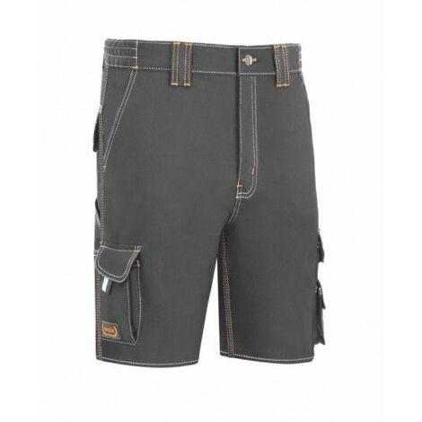 Pantalon Trabajo T44 Corto Algodon/Elas Gris L9000 Vesin