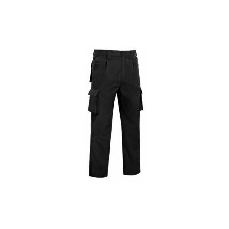 Pantalon Trabajo T44 Elastico Tergal Negro L9000 Vesin