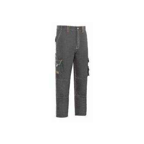 Pantalon Trabajo T46 Algodon/Elas Gris L9000 Vesin