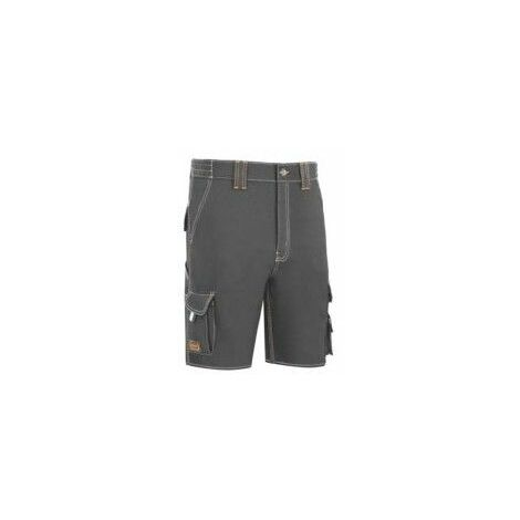Pantalon Trabajo T46 Corto Algodon/Elas Gris L9000 Vesin