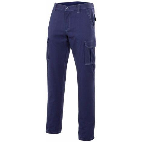 "main image of ""Pantalon Trabajo T46 Elastico Tergal Azul Marino Velilla"""