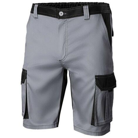 Pantalon Trabajo T50 Corto 65% Poli 35% Alg Gr/Neg 103021B