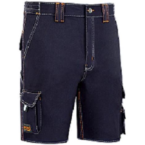 Pantalon trabajo t50 corto alg az/mar stretch triple costura