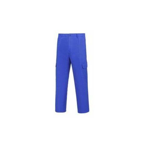 Pantalon Trabajo T54 Elastico Algodon Azul L500 Vesin
