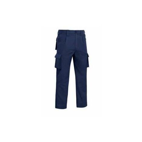 Pantalon Trabajo T54 Elastico Tergal Azul Marino L9000 Vesi