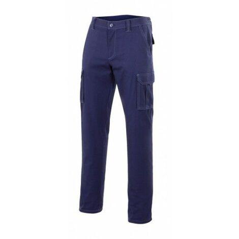 "main image of ""Pantalon Trabajo T54 Elastico Tergal Azul Marino Velilla"""