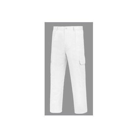 Pantalon Trabajo T54 Tergal Blanco L500 Vesin
