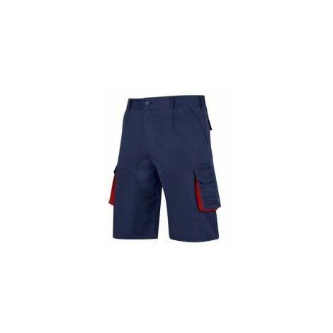 Pantalon Trabajo T56 Corto Tergal Azul/Rojo Cargo Vesin