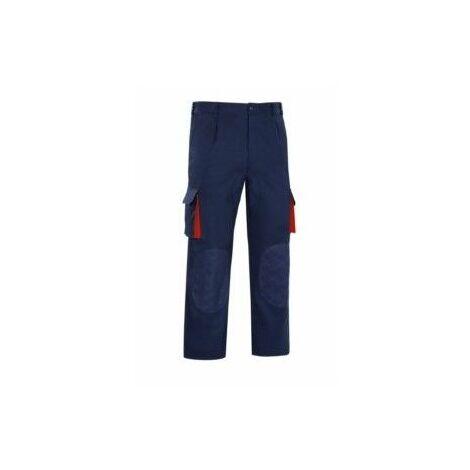 Pantalon Trabajo T56 Tergal Azul/Rojo Cargo Vesin