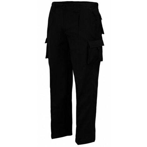 Pantalon Trabajo T58 Elastico Tergal Negro L9000 Vesin