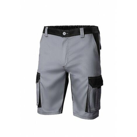Pantalon Trabajo T60 Corto 65% Poli 35% Alg Gr/Neg 103021B