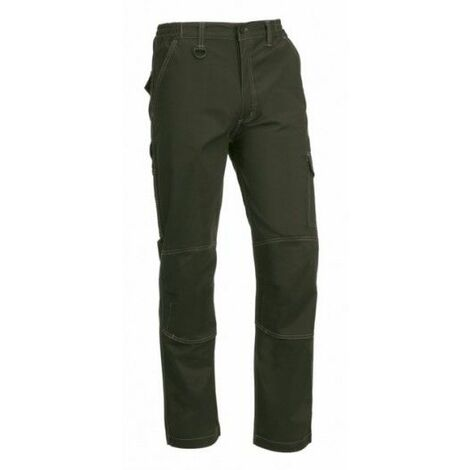 Pantalon Trabajo Xl 57%Algodon 40%Poliesterster Verde Flex Light si