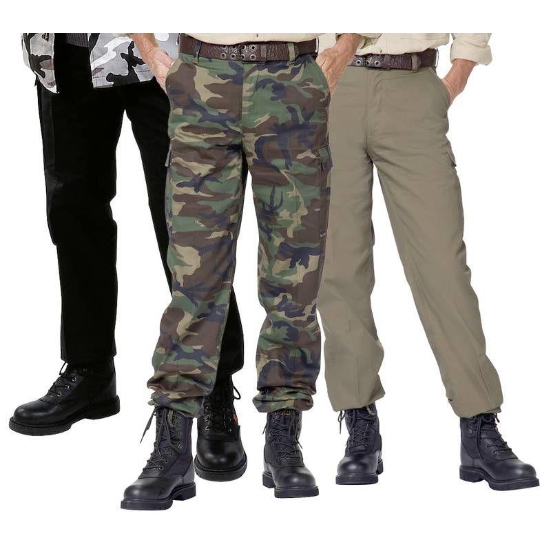 Pantalon treillis US Ranger noir pour homme
