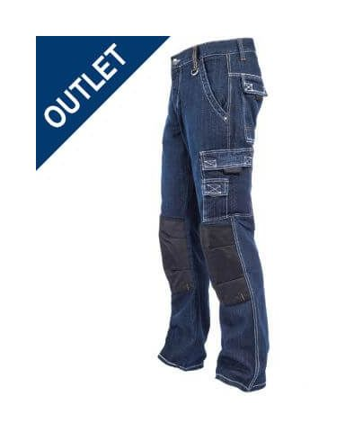 Pantalon Vaquero Trabajo Refuerzos T Xl San Xl