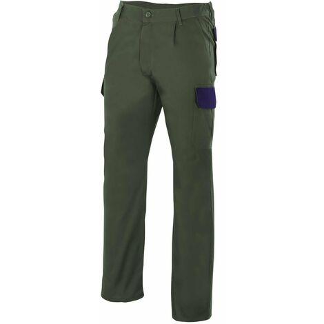 Pantalón verde bosque multibolsillos Serie PT345