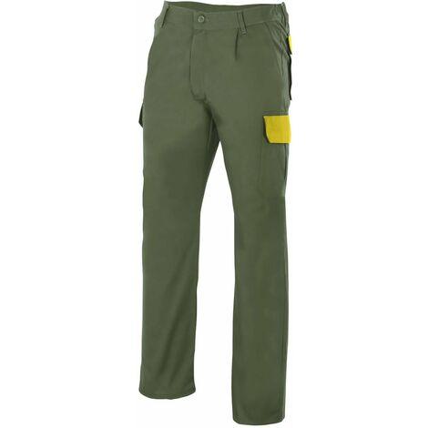 Pantalón verde caza multibolsillos Serie PT345