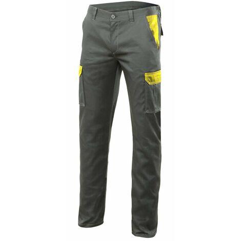 Pantalon verde caza stretch bicolor multibolsillos Serie PT103002S