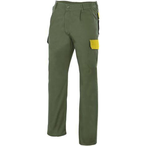 Pantalón verde multibolsillos Serie PT345