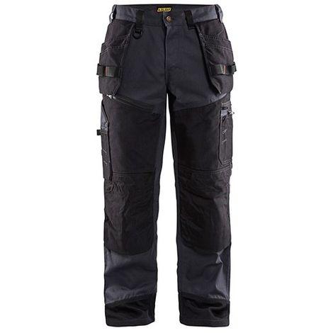 Pantalon X1500 CANVAS - 8399 Bleu acier/Noir - Blaklader