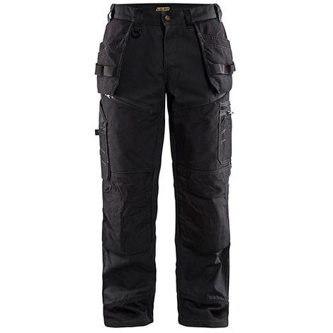 Pantalon X1500 CANVAS - 9900 Noir - Blaklader