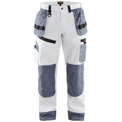 Pantalon X1500 peintre Blanc/Gris 1510 Blaklader