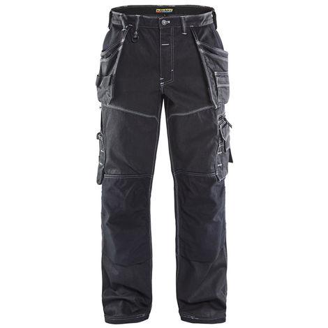 Pantalon X1900 artisan Cordura® DENIM Noir 1960 Blaklader
