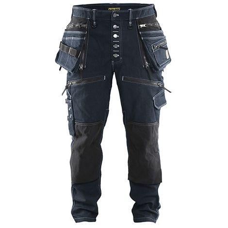 Pantalon X1900 artisan CORDURA DENIM stretch 2D - 8999 Marine/Noir - Blaklader