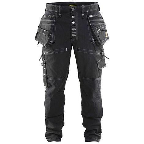 Pantalon X1900 artisan CORDURA DENIM stretch 2D - 9900 Noir - Blaklader