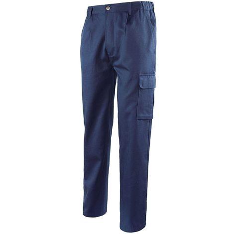 """main image of """"Pantalone lavoro Logica blu cargo multitasche portamento abbigliamento tecnico antinfortunistica"""""""