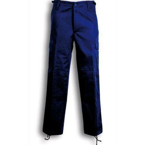 Blu Royal 52 Pantalone Da Lavoro Multitasche In Policotton