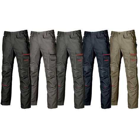 U POWER Pantalone da Lavoro Jeans Traffic