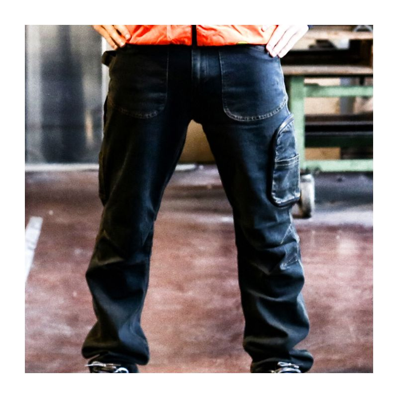 eab43a14cbb2 Pantaloni jeans da lavoro elasticizzati Cofra Barcelona Blu 46 - ABB  BARCELONA 00 46