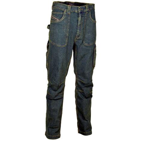 Pantaloni jeans da lavoro elasticizzati Cofra Barcelona b9aa36b75d1