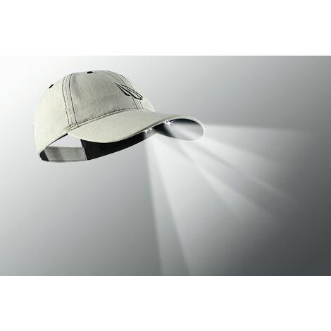 Panther Vision - 4 LED POWERCAP Gorra con luz led color beige con serigrafia azul